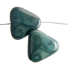 Glass Bead Triangle 17x18mm Opaque Dark Green Silk